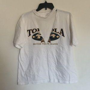 Mesh Cut Out Graphic Tshirt